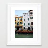 venice Framed Art Prints featuring Venice by Kakel-photography