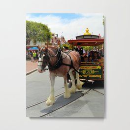 Horse-Drawn Trolley II Metal Print