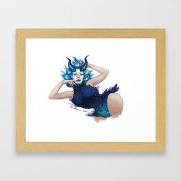Demon Pin-up Framed Art Print