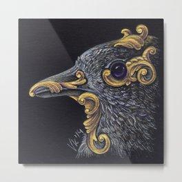 Ornamental Bird Metal Print