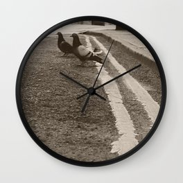 Out on the Town Wall Clock