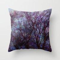 artsy Throw Pillows featuring artsy tree by Stephanie Koehl