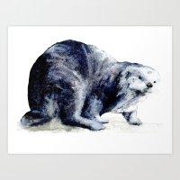 otter Art Prints featuring Otter by BigRedSharks