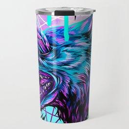 Crystal Wolf Travel Mug