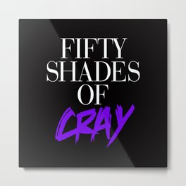 Fifty Shades of Cray Purple Vogue Metal Print