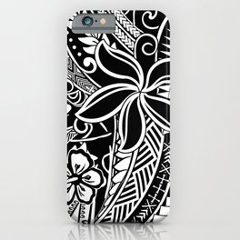 Tribal Tiare iPhone Case