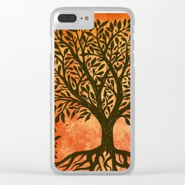 Tree Of Life Warm Tones Clear iPhone Case