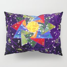 Astrological Circle Pillow Sham