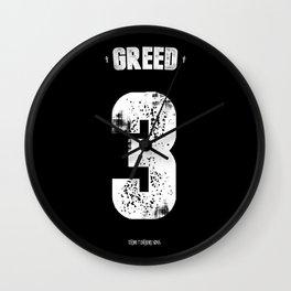 7 Deadly sins - Greed Wall Clock
