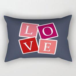 Love text design Rectangular Pillow