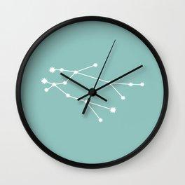 Gemini Zodiac Constellation - Teal Wall Clock