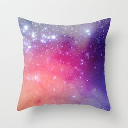 Watercolor Space #1 Throw Pillow