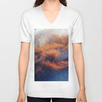 cosmic V-neck T-shirts featuring COSMIC by KEEP OMAHA GOOD WEIRD