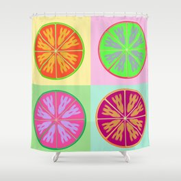 Unordinary orange fruit Shower Curtain