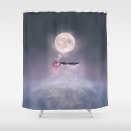 Moonsende / Back to Home Shower Curtain