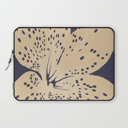 Soybean lily on eclipse blue Laptop Sleeve