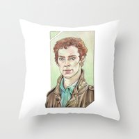 cumberbatch Throw Pillows featuring Benedict Cumberbatch by Jess P.