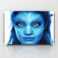 angelina jolie iPad Cases featuring Angelina Jolie Avatar by Amber Galore Design