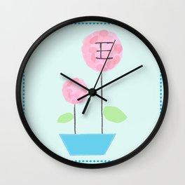 Flower E Wall Clock