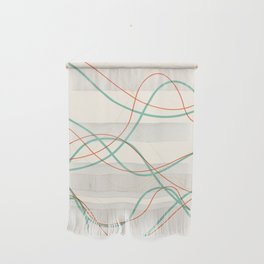 Flowing Lines Contrast Bright Wall Hanging