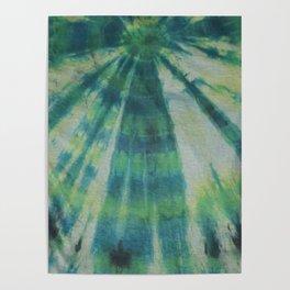 Tie Dye Blue Green 5 Poster