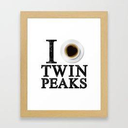 I Love Twin Peaks (Coffee) Framed Art Print