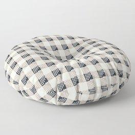 ANTHOLOGY OF PATTERN SEVILLE GINGHAM BLACK Floor Pillow