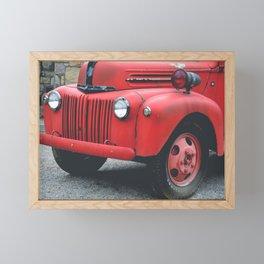 Vintage Fire Truck Framed Mini Art Print