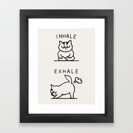 Inhale Exhale Cat Framed Art Print
