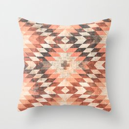 native coral diamond Throw Pillow