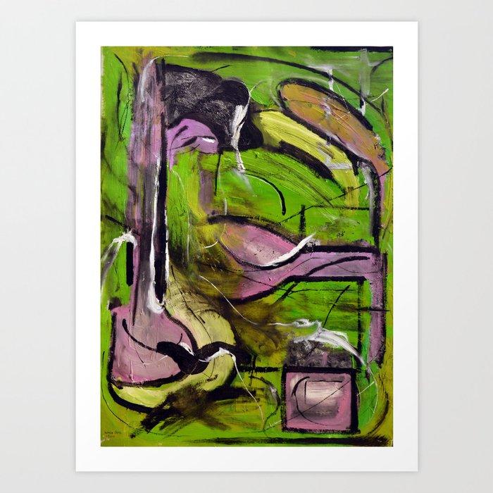 Lust (oil on canvas) Art Print