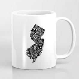 Typographic New Jersey Coffee Mug