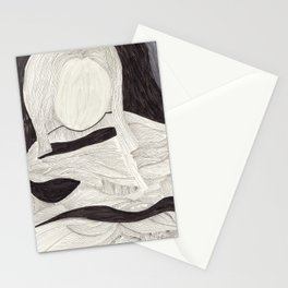 Tangle face Stationery Cards