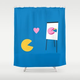 Office Romance Shower Curtain