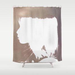 White Silhouette  Shower Curtain
