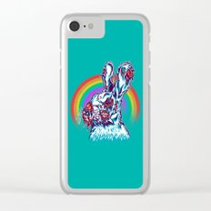 Zombie Rabbit Clear iPhone Case