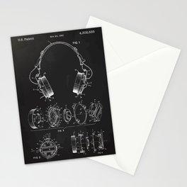 Headphone patent Stationery Cards