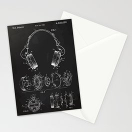 Headphone patent Stationery Cards