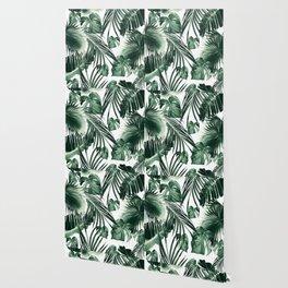 Tropical Jungle Leaves Dream #7 #tropical #decor #art #society6 Wallpaper