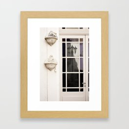 French Door Reflections Framed Art Print