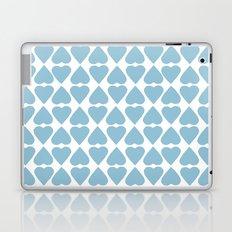 Diamond Hearts Repeat Blue Laptop & iPad Skin