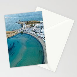 Greece Naxos City Street Coast From above Houses Cities Building Stationery Cards