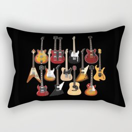 Too Many Guitars! Rectangular Pillow