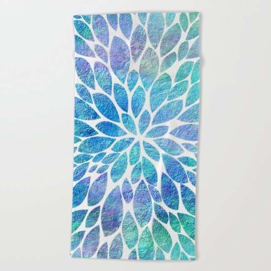 Petal Burst #8 Beach Towel