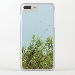Green and Sky Clear iPhone Case