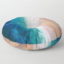 Watercolour Summer Beach IV Floor Pillow