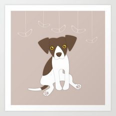 Dave the Dog Art Print