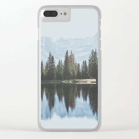 Italian Dolomites (landscape version) Clear iPhone Case