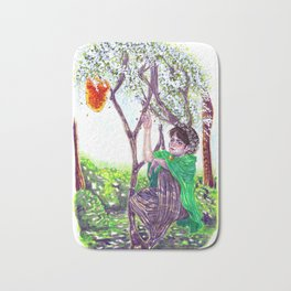 The Hawthorn Tree sign Bath Mat