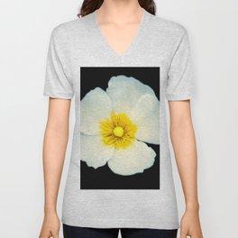 white dune flower Unisex V-Neck